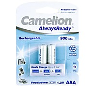 Camelion AlwaysReady 900mAh Low Self-discharge Ni-MH AAA Rechargeable Battery (2pcs)