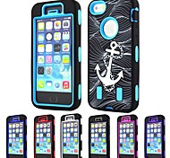 3-in-1 Design Anchor Pattern Hard Case with Silicone Inside Cover for iPhone5/5S (Assorted Colors)