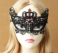 Women's Princess Lace Mask with Crown