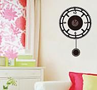 zooyoo® elektronischen Batteriemusikzeitnehmer diy runder Form Wandaufkleberausgangsdekor für Sie Wohnzimmer