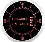 fuochi d'artificio aperte su display di vendita neon led orologio da parete