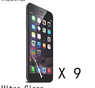 protector de pantalla transparente de alta calidad para el iphone 6s / 6 más (9 piezas)