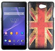 Vintage Union Jack Flag Cross Pattern Leather Coated Design TPU Case for Sony Xperia Z2a D6563