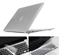 ENKAY Silver Protective PC Full Body Case and Keyboard Film for MacBook Air 11.6' / 13.3""