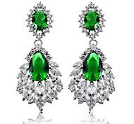 Luxurious Women's Full Crystal Stainless Steel Platinum Plating Stud Earrigs
