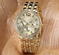 Women's Watch Fashion Sparkle Diamante Strap Watch Luxury Gold Dial Wrist Watch Cool Watches Unique Watches