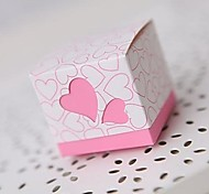 Heart Design Wedding Favors With Ribbon - Set of 12 (More Colors)