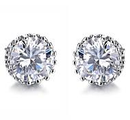 Big Diamond Allergy Free Creative Snowflakes Inlay Zircon Earrings