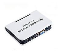 hembra VGA a HDMI convertidores de video de sexo femenino con 3.5mm 1080p soporte de audio