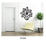 ZOOYOO® cute flower shape Electronic battery timekeeper clock wall sticker home decor for you living room