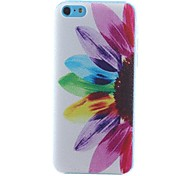 Flower Color Pattern PC Hard Case for iPhone 5C