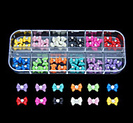 60PCS 12 Colours Popular Resin Nail Art Decoration