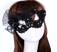 Fashion Flower Diamante Lace Dance Mask