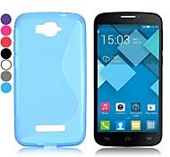 commercio all'ingrosso! s disegno di figura molle del gel di TPU per Alcatel One Touch comparsa c7 ot-7040d (colori assortiti)