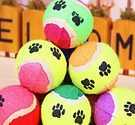 Cat / Dog Pet Toys Ball Tennis Ball Random Color Sponge