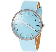 Women's Casual Style Candy Color PU Band Quartz Wrist Watch (Assorted Colors)