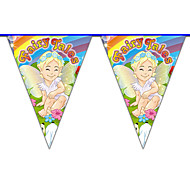 Multicolor Happy Birthday Angle Flag Banner Party Accessory