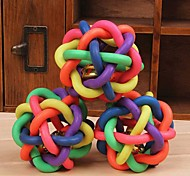Lureme Colorful Weaving Bell Rubber for Pets Dogs Cats