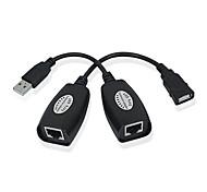 0.5m usb2.0 XMW 1,64 pies macho / hembra a USB RJ45 hembra cable de extensión del envío libre