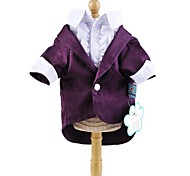 Dog Coat Blue / Purple Winter Bowknot