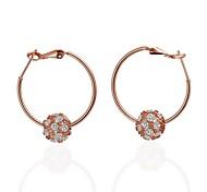 mode perle chance en or rose rose boucles d'oreilles en plaqué or (or rose) (1 paire)