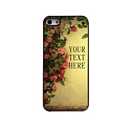 Personalized Gift Flower Design Metal Case for iPhone 5/5S