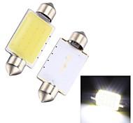 merdia feston 2w épi 6000k 110lm 41mm 12SMD a mené la lumière blanche froide pour éclairage de plaque d'immatriculation de voiture / lampe de lecture