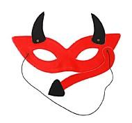 diabo vermelho pvc máscara de halloween festa de olho