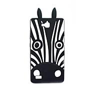 Black Zebra Pattern Soft Case for Huawei Honor 3C