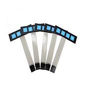 zndiy-Bry 1 x 4 tastiera a membrana a matrice sottile tastiera del pannello di controllo dell'interruttore - nero + blu (5 pezzi)