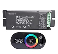 6A 3-Channel Smart Wireless RF RGB LED Touch Panel Controller for RGB LED Strip Lamp (DC 12~24V)
