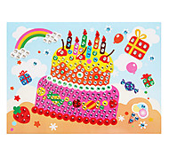 EVA Mosaic Crystal 3D Stickers Children Hand DIY Puzzle Birthday Cake Toy
