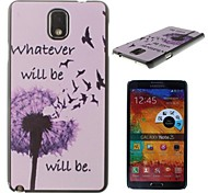 Smile Dandelion Pattern PC Hard Case for Samsung Galaxy Note 3