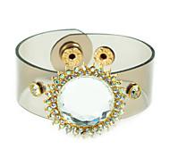 Cristal de mode Entouré verre PU Bracelet