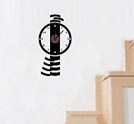 ZOOYOO® Vintage and classic Style Electronic battery pendulum clock shape wall sticker home decor for you room