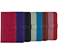 Crazy Horse Leather Wallet Full Body Case Flip Leather Stand Cover with Card Holder for iPhone 5/5S (Assorted Colors)