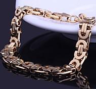 Men's Fashion Personality Golden Titanium Steel Bracelets