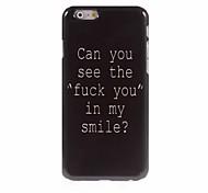Fuck Letter Design Aluminum Hard Case for iPhone 6