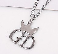 Fashion GD Crown Alloy Pendant Necklace(Silver) (1 Pc)