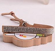 Corée du style à double rangée de velours bracelet en cristal