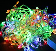 Waterproof 10M 100-LED RGB Light LED Christmas Light Decoration String Light (110V)