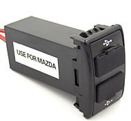 2.1a 2xUSB uso especial tomada de interface para Mazda com lâmpada indicando