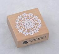 5cm x 5cm romántico estampado de plores floral cuadrados sellos de madera