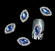 10pcs Blue Marquise DIY Alloy Accessories Nail Art Decoration