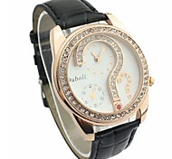 Mulheres Relógio de Moda Couro Banda Relógio de Pulso