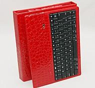 Silicone PU Bluetooth Wireless Keyboard Case for iPad 4 iPad 3 iPad 2