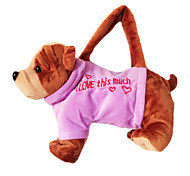 Bulldog Design Plush Toys Soft Hand Bag