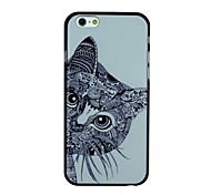 Long Beard Cat Pattern PC Hard Back Cover Case for iPhone 6