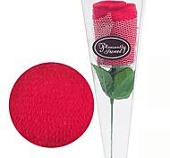 rosas forma de presente de aniversário de fibra toalha criativo (cor aleatória)