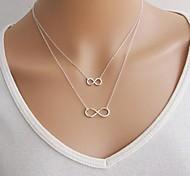 Frauen Europäischen Lucky 8-Legierung dünn Halskette (1 PC)